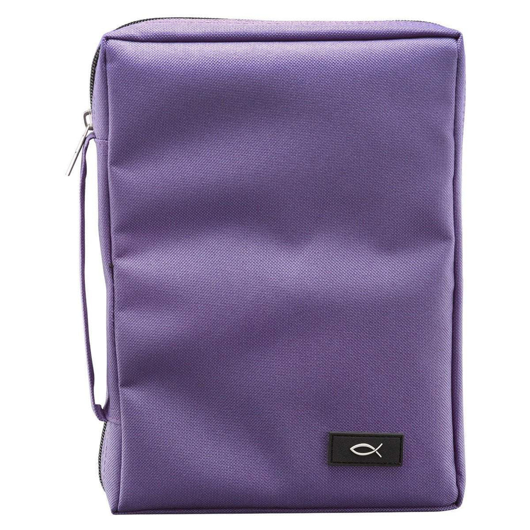 Purple Polyester Canvas Bible Cover