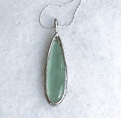 Roman Glass Pear Drop Necklace