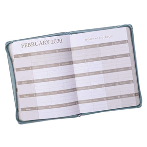 Seafoam Green Live By Faith 2020 Daily Planner