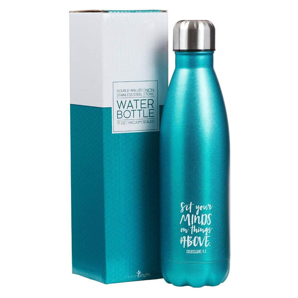 Set Your Mind On Things Above Stainless Steel Water Bottle