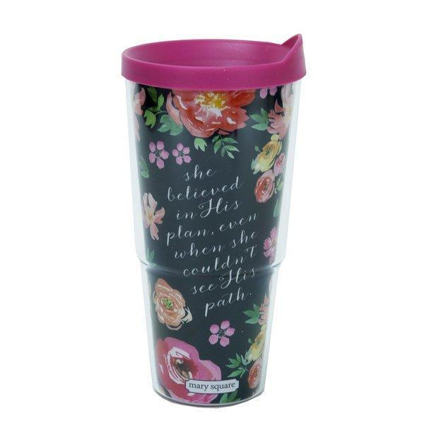 She Believed Floral Travel Mug