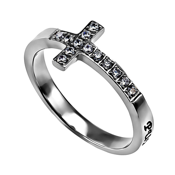 Sideways Cross Purity Ring