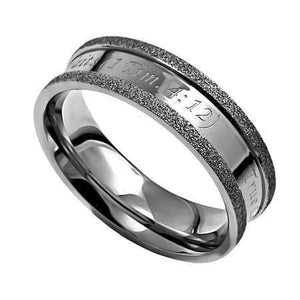 Silver Champagne True Love Waits Ring