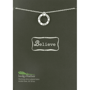 Silver Faith Hope Love Pendant Necklace