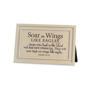 Soar On Wings Like Eagles Bible Verse Plaque