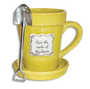 Sow The Seeds Of Kindness Flower Pot Coffee Mug