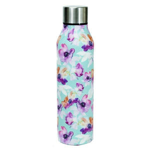 Stainless Steel Water Bottle-Teal Floral