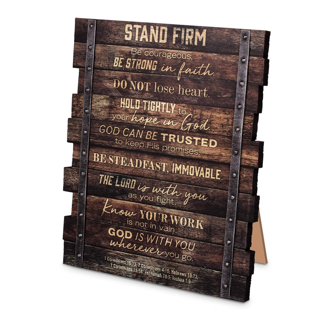 Stand Firm Stacked Scripture Plaque