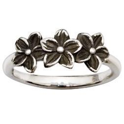 Sterling Silver Flower Christian Ring - Grow In Grace