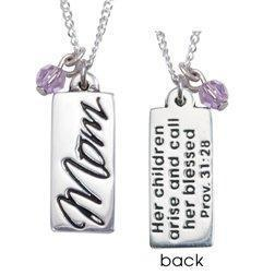 Sterling Silver Mom Proverbs 31 Necklace