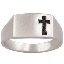 Sterling Silver Recessed Cross Ring