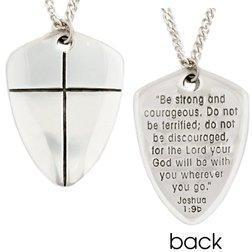 Sterling Silver Shield Of Faith Necklace