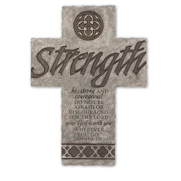 Strength Bible Verse Wall Cross
