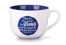Strong Large Mug/Bowl With Scripture