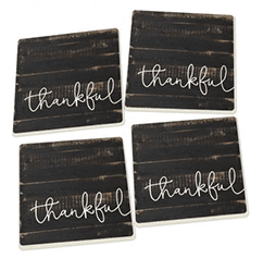 Thankful Ceramic Coasters