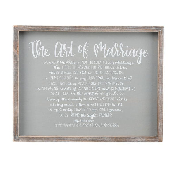 The Art Of Marriage Framed Plaque