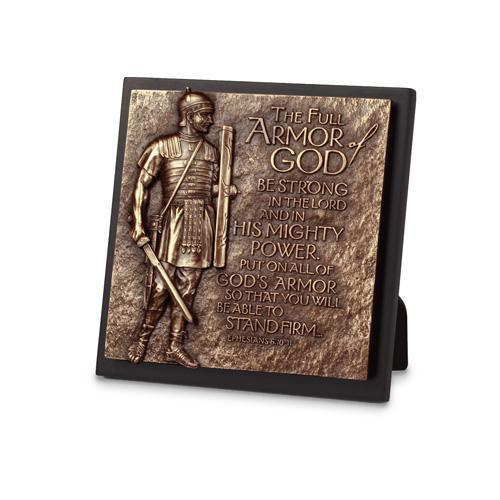 The Full Armor Of God Sculpture Plaque