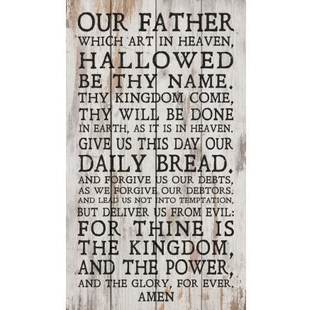The Lord's Prayer Wood Pallet Wall Sign