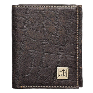 Three Crosses Brown Leather Wallet