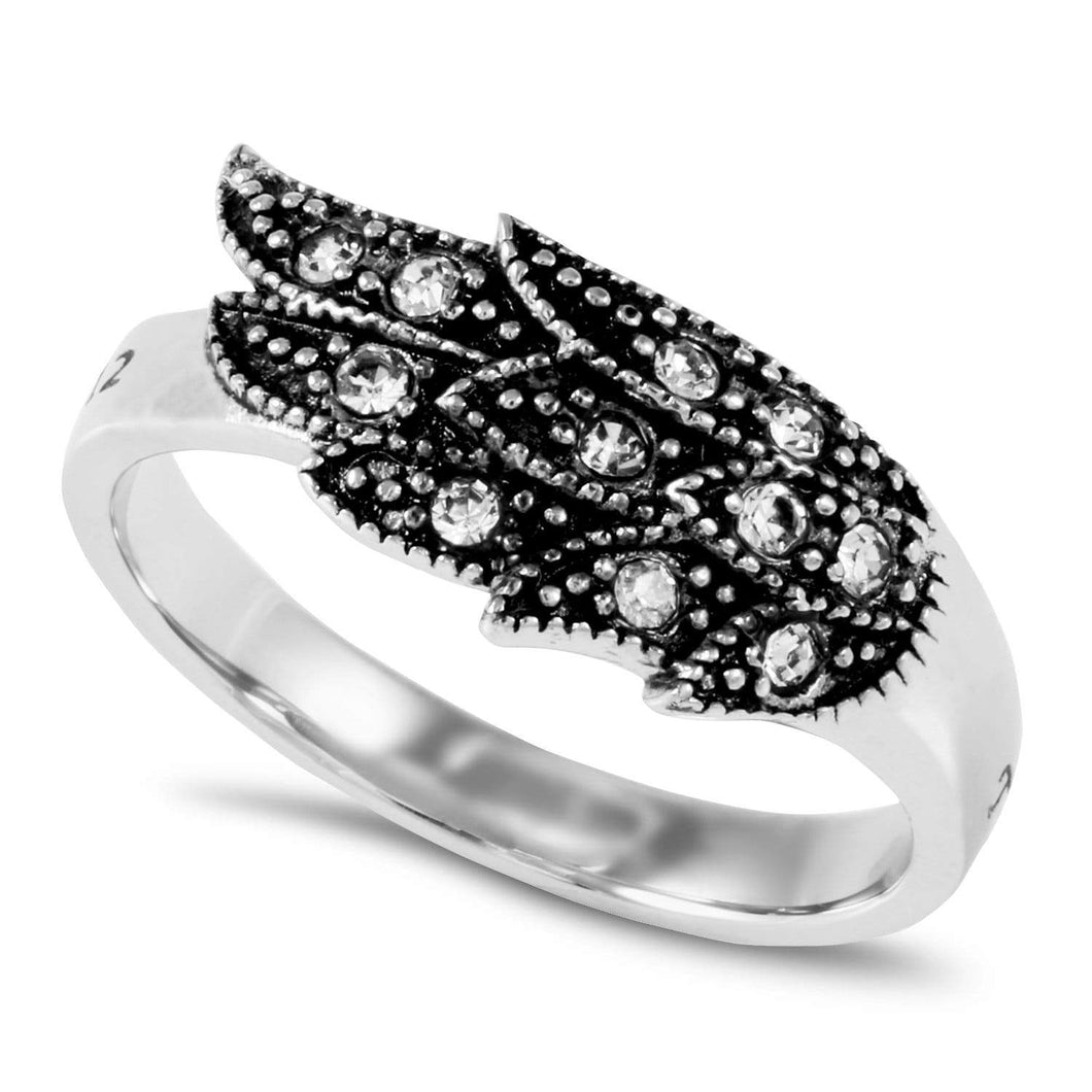 True Love Waits Angel Wing Ring