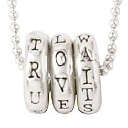 True Love Waits Sterling Silver Necklace Rings