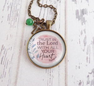 Trust In The Lord Proverbs 3:5 Necklace