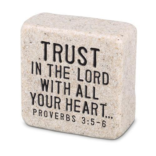 Trust In The Lord Proverbs 3:5 Scripture Stone