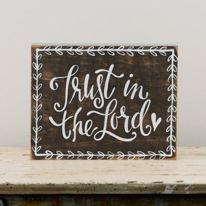 Trust In The Lord Wood Plaque