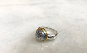 Two Tone Ancient Roman Glass Ring