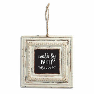 Walk By Faith Vintage Tin Sign