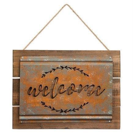 Welcome Rustic Metal Wall Sign