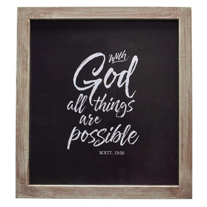 With God All Things Are Possible Wall Plaque