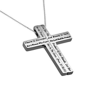 Woman Of God Iron Cross Necklace