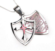 Women's 2 Piece Shield Cross Necklace Fear?