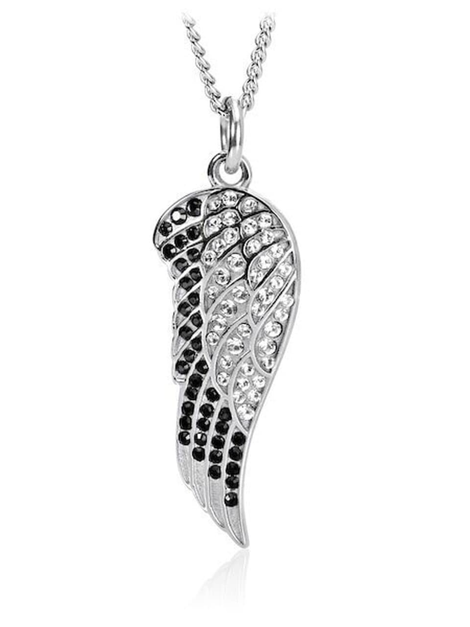 Women's Angel Wing Necklace With Swarovski Crystals
