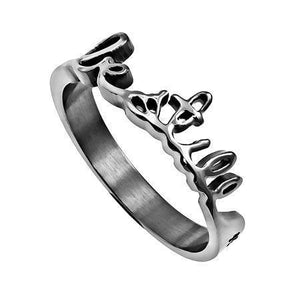 Women's Hand Writing Ring Be Still Bible Verse