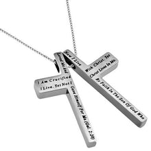 Women's Iron Cross Necklace Crucified