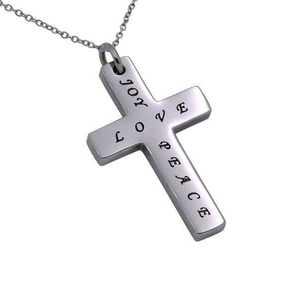 Women's Love Joy Peace Simplicity Cross Necklace