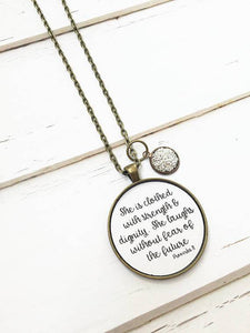 Women's Proverbs 31 Pendant Necklace