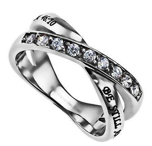 Women's Radiance Ring Be Still Bible Verse