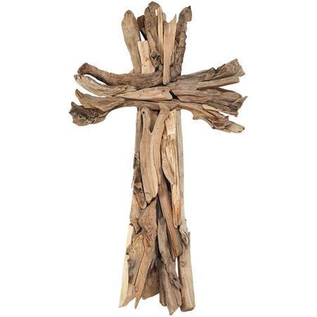 Wood Strips Wall Cross
