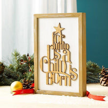 Wooden Silhouette Christmas Wall Plaque