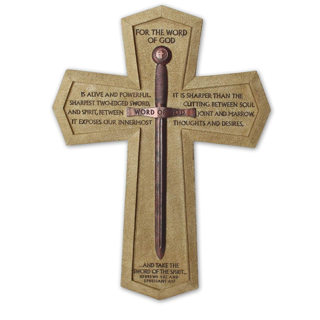 Word Of God Sword Wall Cross