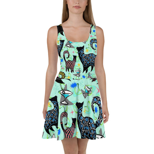 Snobby Cocktails Skater Dress
