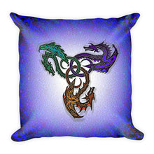 GOTHIC DRAGONS Square Pillow - COOOL CATS