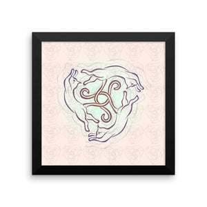 CATS CIRCLE Framed poster - COOOL CATS