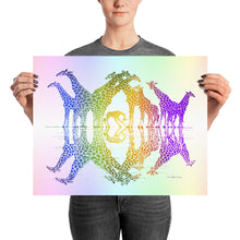 RAINBOW GIRAFFE REFLECTIONS Poster - COOOL CATS