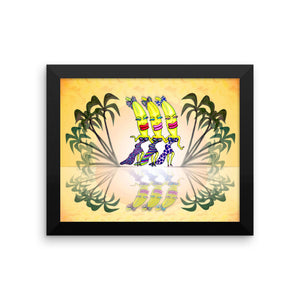 BANANA GIRLS Framed poster - COOOL CATS
