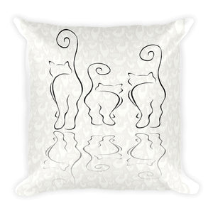 CATS SILHOUETTES Square Pillow (2 sided front & back) - COOOL CATS