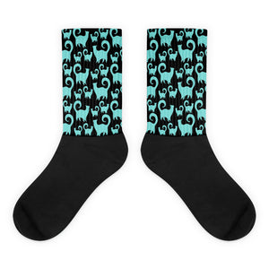 BLUE SNOBBY Socks - COOOL CATS